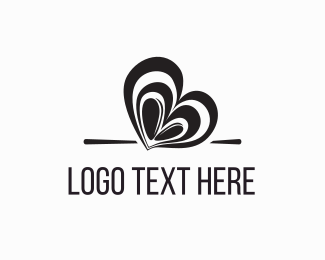 Wheat - Coffee Bean Heart logo design