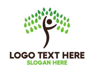 Person - Person Tree logo design