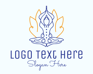 Yoga Pose - Simple Yoga Meditation logo design