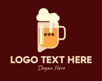 Bar - Beer Talk Bar logo design