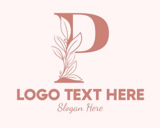Leaf - Elegant Leaves Letter P logo design