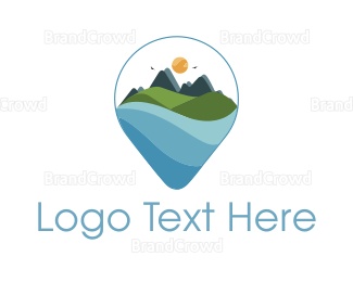 Travel Agent - Mountain Landscape logo design