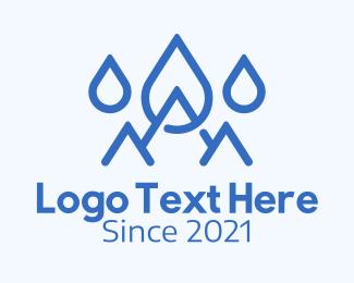 Mountain - Blue Water Mountain logo design