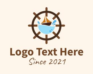 Voyage - Marine Sailing Wheel logo design