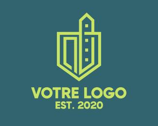 Construction Urban Green Construction  logo design