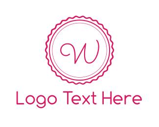 Hairdressing - Pink W Stamp logo design