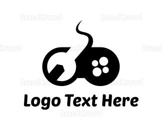 Remote - Wrench Controller logo design