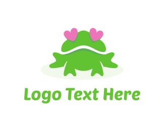 Toad - Frog Love logo design