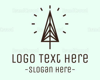 Spiritual - Minimalist Pine  logo design