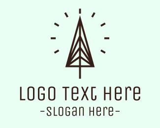 Tree - Minimalist Pine Tree logo design