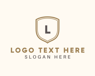 Elegance - Golden Shield logo design