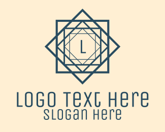 Construction Firm - Blue Architectural Letter logo design