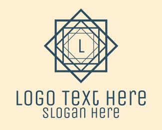 Architecture - Blue Architectural Letter logo design