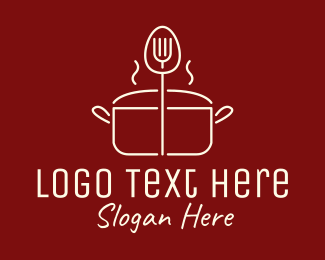 Italian Restaurant - Minimalist Cooking Pot logo design