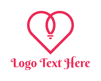 Marriage - Red Heart Ring logo design