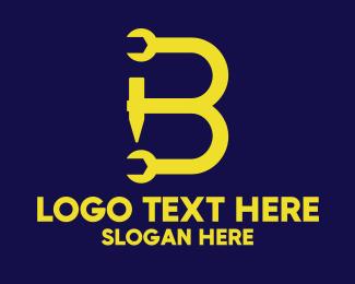 Tools - Hardware Tools Letter B logo design