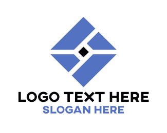 Business Consultant - Blue Diamond Pieces logo design