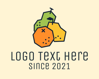 Fresh Fruit - Geometric Fresh Fruit logo design