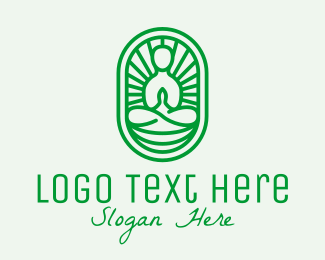 Enlightenment - Zen Yoga Meditation Guru logo design