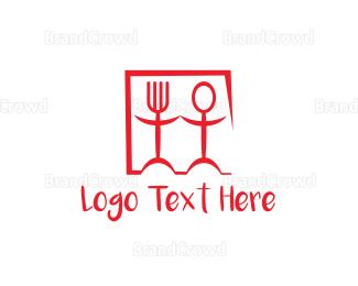 Couple - Spoon Fork Couple logo design