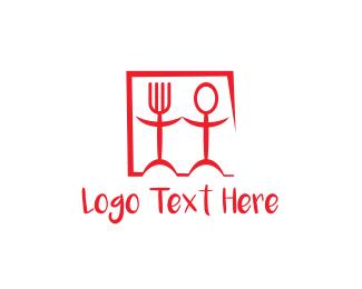 Spoon - Spoon Fork Couple logo design
