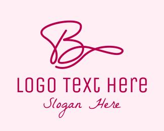 Cursive - Cursive Letter B  logo design
