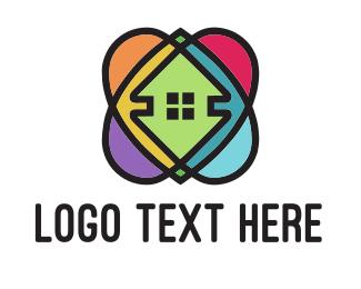 Renovation - Colorful 360 Homes logo design