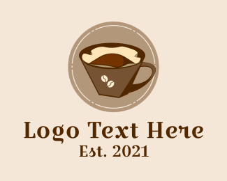 Cafe Americano - Coffee Filter Brew logo design