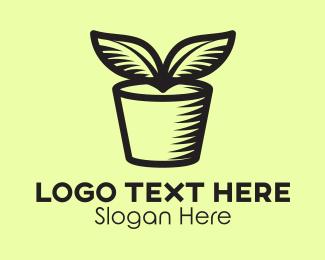 Clay - Plant Pot logo design