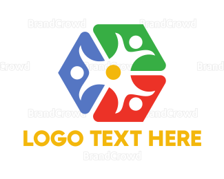 Crowdsourcing - Colorful Cube People logo design
