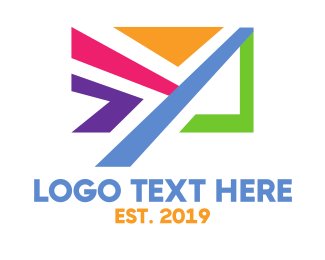 Messaging - Colorful Email App logo design