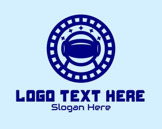 Droid - Blue Astronaut Virtual Reality logo design