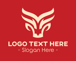 Dragon - White Dragon Pattern logo design