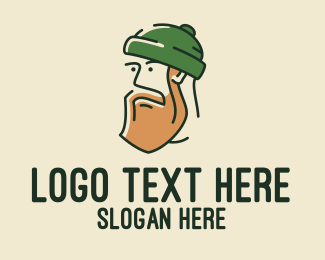 Grooming - Handsome Hipster Man  logo design