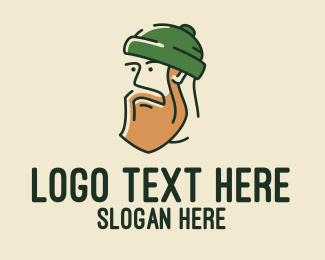 Skater - Handsome Hipster Man logo design