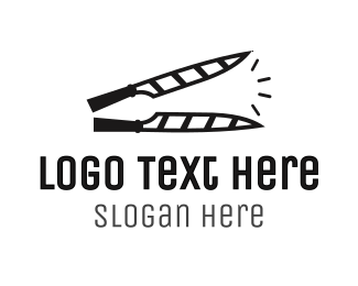 Cut - Knife Clapperboard logo design