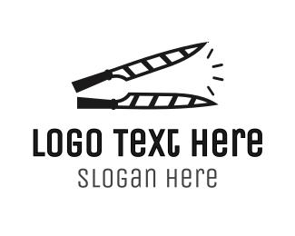 Cut - Knife Clapperboard logo design