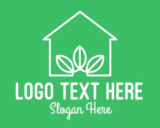 Environmental Friendly - White Eco House logo design