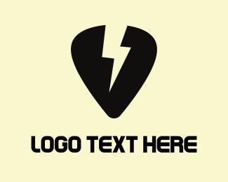 Thunderbolt - Thunder Pick logo design