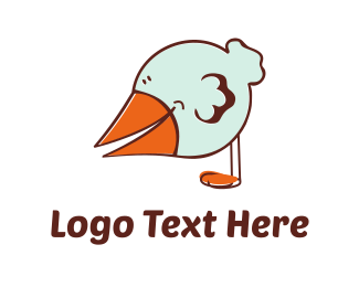 Pigeon - Little Bird Cartoon logo design