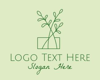 Plant - Green Plant Seedlings logo design