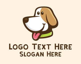 Fluffy - Cute Beagle Dog  logo design