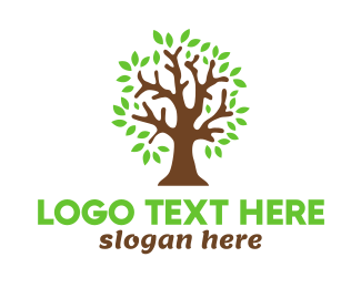 Meditation - Old Brown Tree logo design