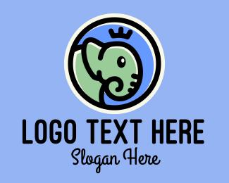 Thailand - Cute Elephant Prince logo design