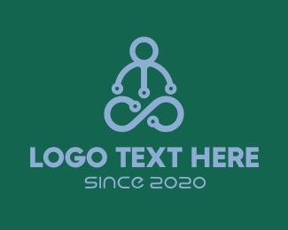 Artificial Intelligence - Yoga Instructor logo design