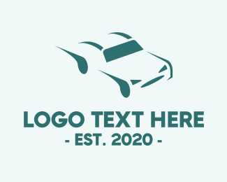 Driving School - Car Driving Fast logo design