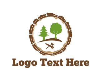 Axe - Carpenter Tools logo design