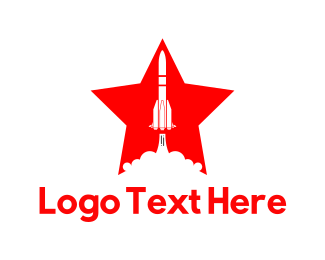 Spaceship - Rocket Star logo design