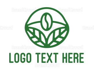 Organic - Organic Coffee Bean logo design
