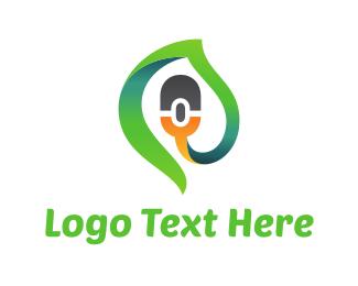 Click - Green Click logo design
